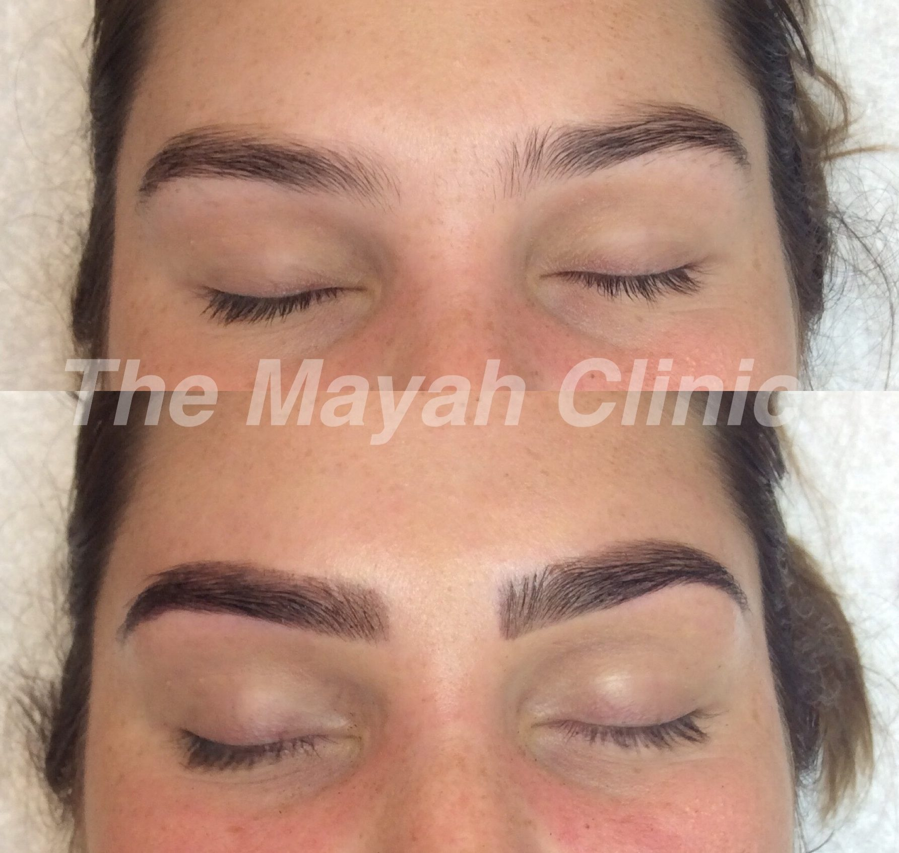 before and after henna brow tint