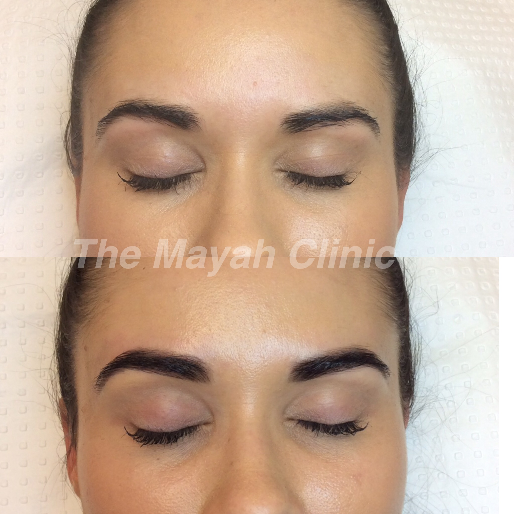 brow tint henna before and after