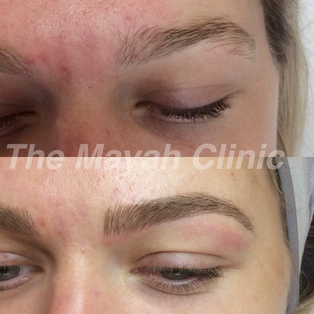 brow microblading before and after